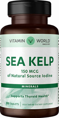 Vitamin World Sea Kelp 150 mcg. 250 Tablets