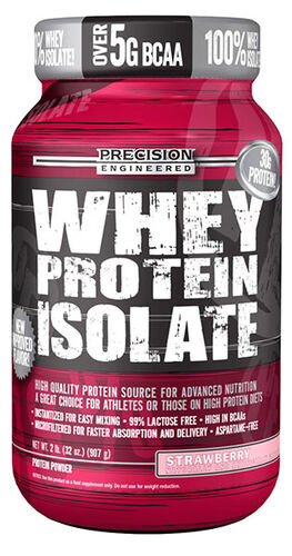 Precision Engineered® Whey Protein Isolate Strawberry 2 lbs. 2 lbs. Powder