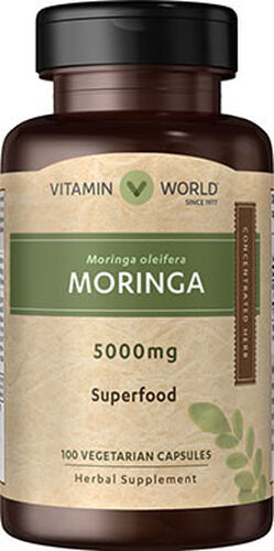 Vitamin World Moringa 5000 mg. 100 Capsules
