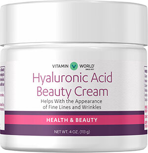 Hyaluronic Acid Beauty Cream - 4 oz. Cream Vitamin World