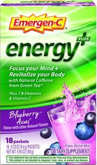 Emergen-C Emergen-C Energy+ Blueberry Acai 18 Packets 250mg.