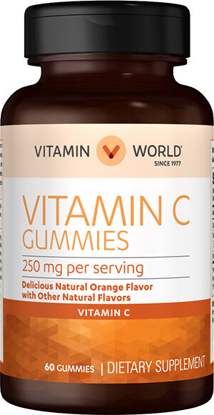 Vitamin World Vitamin C Gummies 250 mg. 60 Gummies Citrus