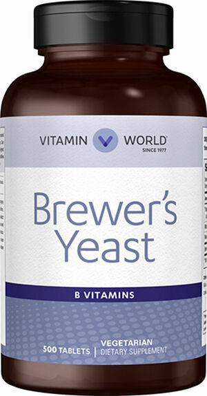 Vitamin World Brewer's Yeast 500 mg. 500 Tablets
