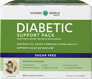 Vitamin World Diabetic Support Pack