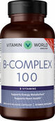 Vitamin World B-Complex 100 200 Capsules 100mg.