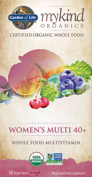 Garden Of Life mykind Organics Women's Multivitamins 40+ 60 Tablets