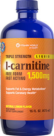 Vitamin World Triple Strength L-Carnitine 1500 mg. 16 oz. Liquid