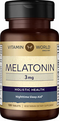 Vitamin World Melatonin 3 mg. 120 Tablets