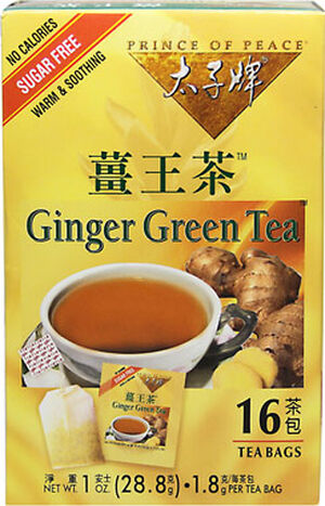 Prince of Peace Ginger Green Tea 16 Tea Bags