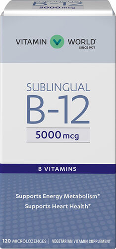 Vitamin World Sublingual B-12 5,000 mcg. 120 microlozenges