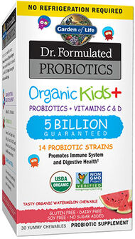 Garden Of Life Dr. Formulated Probiotics Organic Kids+ Watermelon 30 Chewables 5BILLION