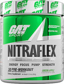 GAT Sport Nitraflex Pre Workout Green Apple 30 servings