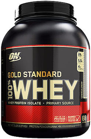Optimum Nutrition Gold Standard 100% Whey Protein Cookies   Cream 5 lbs. 5  lbs d162ec18283