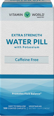 Vitamin World Extra Strength Water Pill Tablets with Potassium