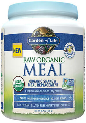 RAW Organic Meal Vanilla 16.7 oz., , hi-res
