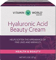 Vitamin World Hyaluronic Acid Beauty Cream 2 oz. Cream