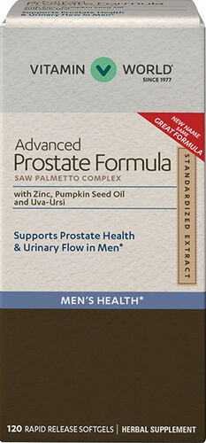 Vitamin World Advanced Prostate Formula Saw Palmetto Complex 120 Softgels