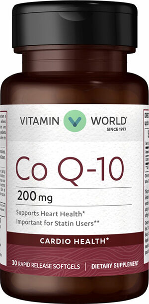 Vitamin World Co Q-10 200mg 30 softgels
