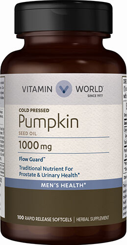 Vitamin World Pumpkin Seed Oil 1000 mg. 100 Softgels