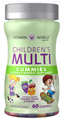 Vitamin World Children's Multivitamin Gummies 60 Gummies Orange, Grape, Cherry