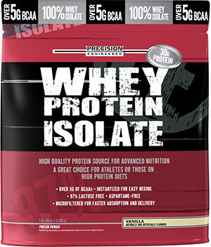 Whey Protein Isolate Vanilla 5 lbs., , hi-res