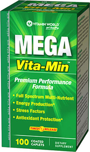 Vitamin World Mega Vita-Min™ Time Release 100 caplets