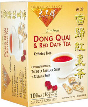 Prince of Peace Dong Quai and Red Date Tea 10 Tea Bags