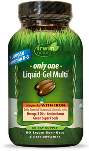 Irwin Naturals Only One Multivitamins with Iron