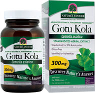 Nature's Answer Gotu Kola 300 mg. 60 Capsules Gotu Kola extract