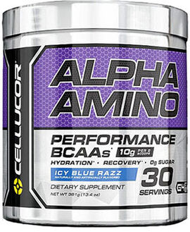 Alpha Amino BCAAs Icy Blue Razz 13.4 oz.