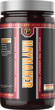 Precision Engineered® Elite Performance Haymaker Pre Workout Strawberry-Lemonade 17 oz. Powder
