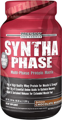 Precision Engineered® Syntha Phase Whey Protein Chocolate Milkshake 2.91 lbs. 2.91 lbs. Powder