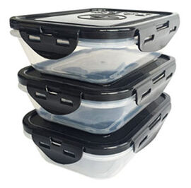 Sure Seal Containers Black Lids - Set of 3 20 oz.