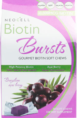 Neocell Biotin Bursts 30 Chewables Acai Berry