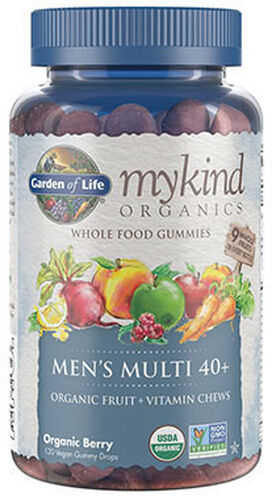 Garden Of Life mykind Organics Men's 40+ Multi Gummies 120 Gummies Organic Berry