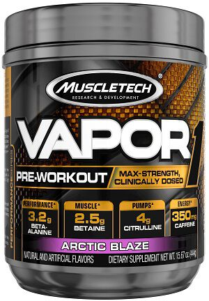 MuscleTech Vapor One Pre Workout Arctic Blaze 15.67 oz. 15.67 oz. Powder