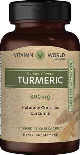 Vitamin World Turmeric 800 mg. 100 Capsules