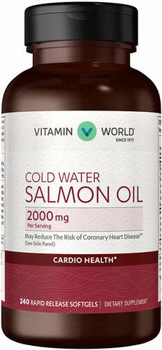 Vitamin World Salmon Oil 2000 mg. 240 Softgels
