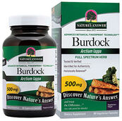 Nature's Answer Burdock Root 500 mg. 90 Capsules