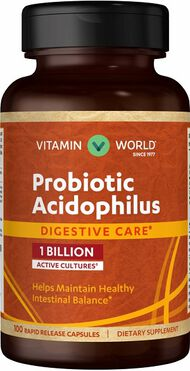 Vitamin World Probiotic Acidophilus 1 billion 100 Capsules