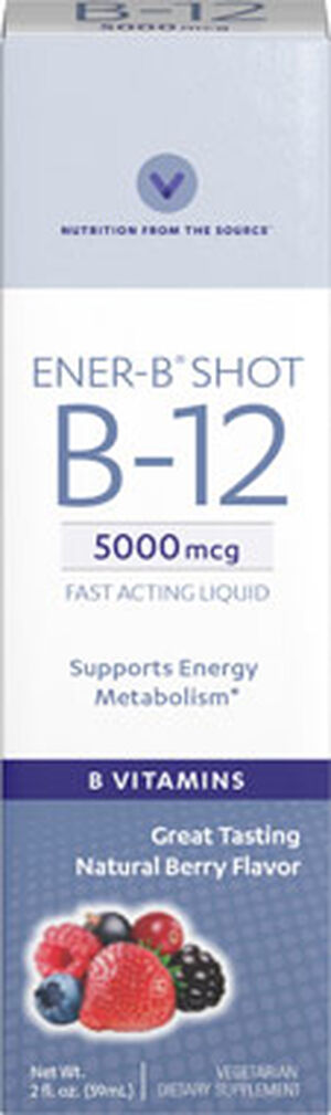Vitamin World Ener-B® Shot Liquid Vitamin B-12 5000 mcg. 2 oz. Liquid Berry