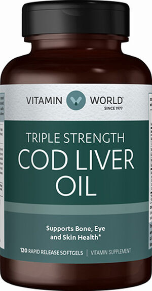Vitamin World Cod Liver Oil 1000 mg. 120 Softgels