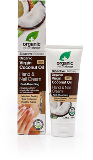 Organic Doctor Virgin Coconut Oil Hand & Nail Cream, , hi-res