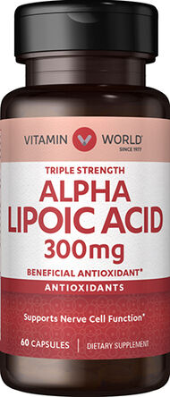 Vitamin World Alpha Lipoic Acid 300 mg. 60 Capsules