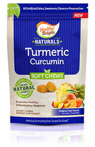 Healthy Delights Naturals Turmeric Chews 30 Chews Tropical Fruit