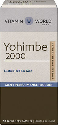 Vitamin World Yohimbe, 2,000 mg. 50 Capsules