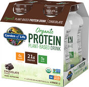 Garden Of Life Organic Protein Plant-Based Drink Chocolate 4 Pack