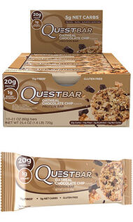 Quest Bars Oatmeal Chocolate Chip, , hi-res