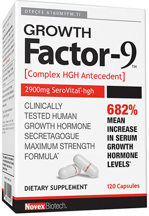 Novex Biotech Growth Factor-9 120 Capsules