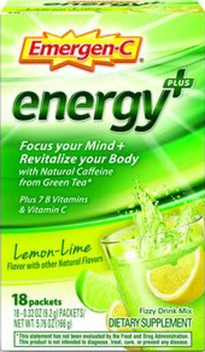 Emergen-C Emergen-C Energy+ Lemon-Lime 18 Packets 250mg.